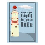 Busque la luz en su vida postal