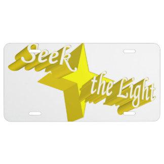 Busque la luz placa de matrícula