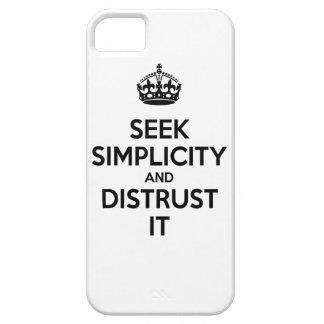 Busque la simplicidad y desconfianza la iPhone 5 fundas