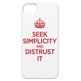 Busque la simplicidad y desconfianza la iPhone 5 protectores