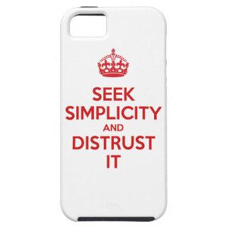 Busque la simplicidad y desconfianza la iPhone 5 funda