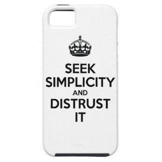 Busque la simplicidad y desconfianza la iPhone 5 cobertura