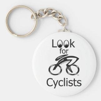 Busque la taza del ciclista llaveros personalizados
