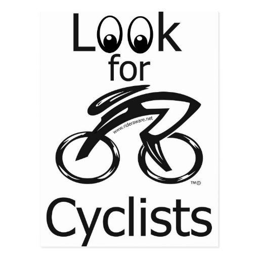 Busque la taza del ciclista postal