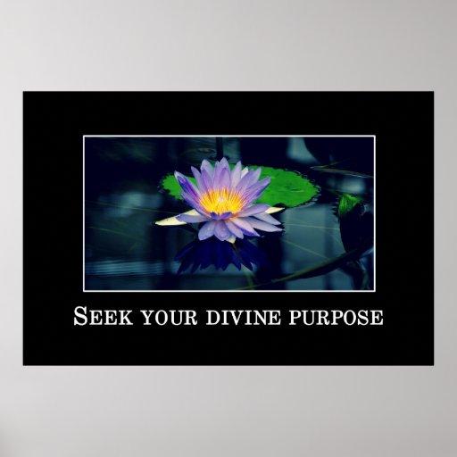 Busque su propósito divino posters