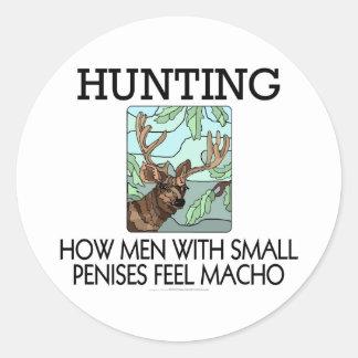 Búsqueda. Cómo los hombres con los pequeños penes Pegatina Redonda