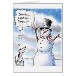 Búsqueda con el muñeco de nieve felicitaciones
