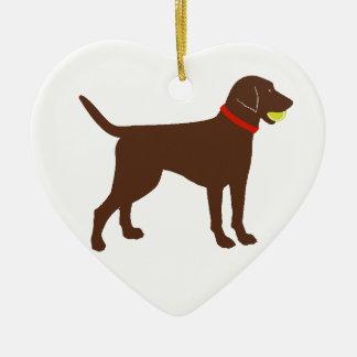 búsqueda de la bola de Labrador, juego del Adorno Navideño De Cerámica En Forma De Corazón