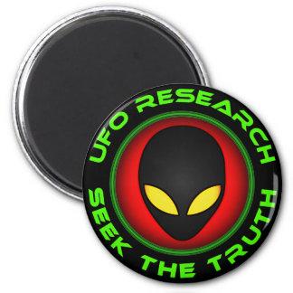 Búsqueda de la investigación del UFO la verdad Imán Redondo 5 Cm