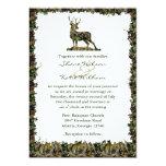 Búsqueda de la invitación del boda del camuflaje invitación 12,7 x 17,8 cm