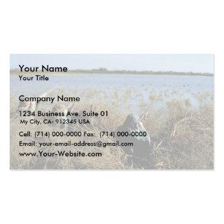 Búsqueda de las aves acuáticas tarjetas de visita
