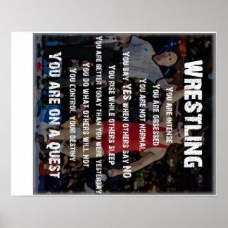 Búsqueda de lucha póster