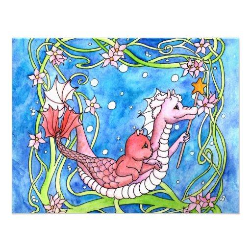 Búsqueda del dragón del mar invitación