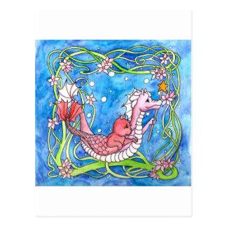 Búsqueda del dragón del mar tarjetas postales