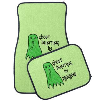 Búsqueda del fantasma en curso - fondo verde alfombrilla de auto