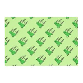 Búsqueda del fantasma en curso - fondo verde tapete individual