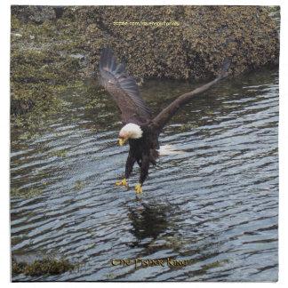 Búsqueda del Fauna-tema de Eagle calvo que cena se Servilleta