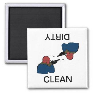 Búsqueda del imán sucio limpio del lavaplatos