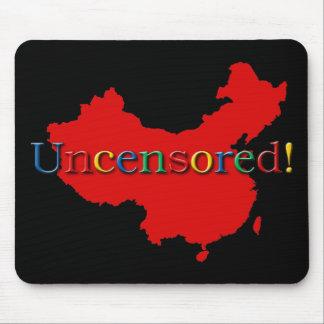 Búsqueda del Internet de China no censurada Tapete De Ratones