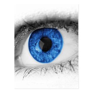búsqueda del ojo azul para el amor postal