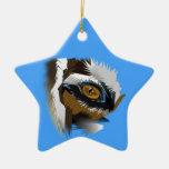 búsqueda del ojo del tigre para el amor ornamentos de navidad