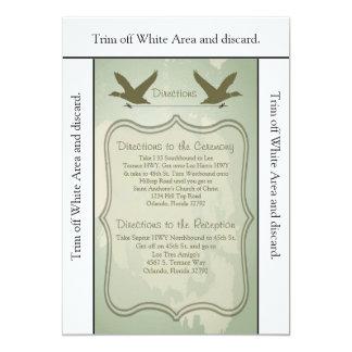 """búsqueda del pato de la tarjeta de las direcciones invitación 5"""" x 7"""""""