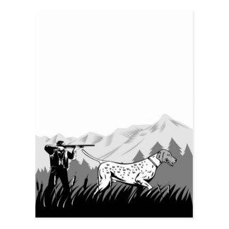 búsqueda del perro y del cazador del perro postal