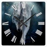 Búsqueda del reloj del arte de la fauna del lobo g