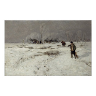 Búsqueda en la nieve póster