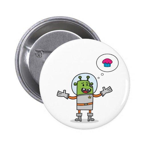 Búsqueda galáctica de la magdalena - botón pin