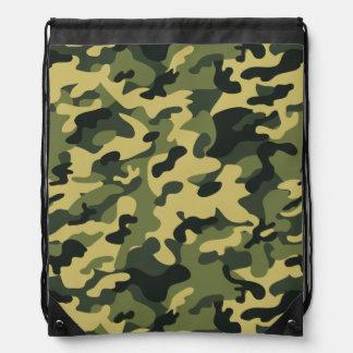 Búsqueda o camuflaje militar del verde amarillo, mochilas
