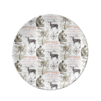 Búsqueda para el conocimiento - historia y ciencia plato de cerámica
