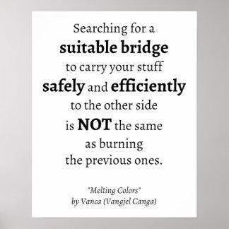 Búsqueda para una cita conveniente del puente - póster