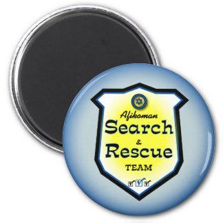 Búsqueda y equipo de rescate de Afikoman Imán Redondo 5 Cm