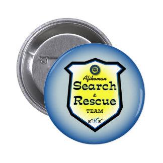 Búsqueda y equipo de rescate de Afikoman Pin Redondo De 2 Pulgadas