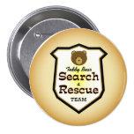 Búsqueda y equipo de rescate del oso de peluche pin