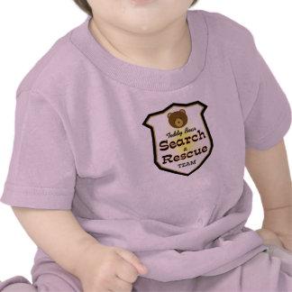 Búsqueda y equipo de rescate del oso de peluche camisetas