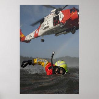 Búsqueda y operación de rescate póster