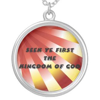 Búsqueda YE primero el reino de dios Colgante Redondo