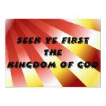 Búsqueda YE primero el reino de dios Invitación 12,7 X 17,8 Cm