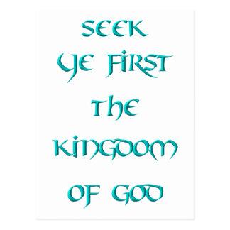 Búsqueda YE primero el reino de dios Postales