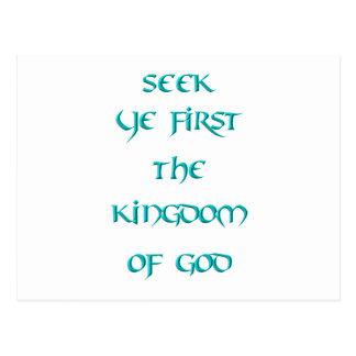 Búsqueda YE primero el reino de dios Tarjetas Postales