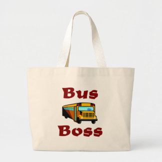 Buss Boss.  School Bus Driver Bag. Large Tote Bag