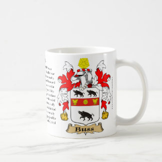 Buss, the Origin, the Meaning and the Crest Coffee Mug