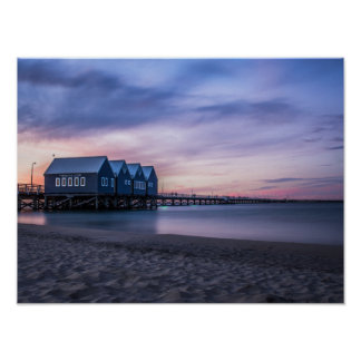 Busselton Jetty at Dusk Poster