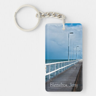 Busselton Jetty on a Cloudy Day Keychain