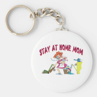 bussy mom basic round button keychain