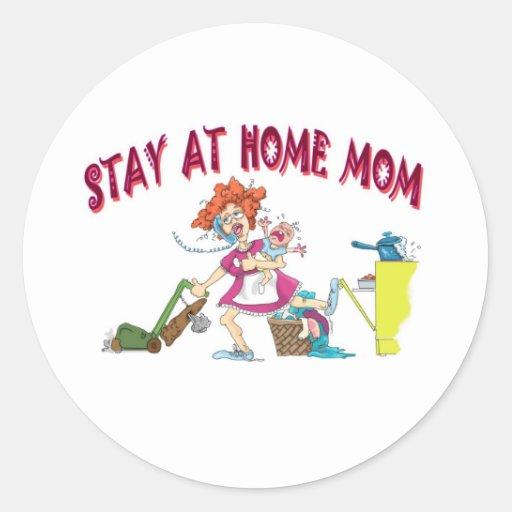 bussy mom round stickers