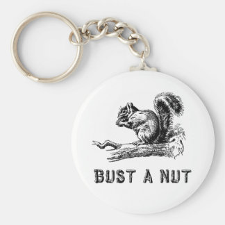 Bust a nut keychain