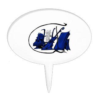 bust blue lyre violin sheet music design.png cake topper